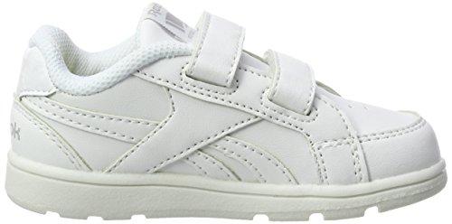 Reebok Nouveau Pour white Bébé Mixte Blanc né silver Chaussures 000 V70002 fqwSrf