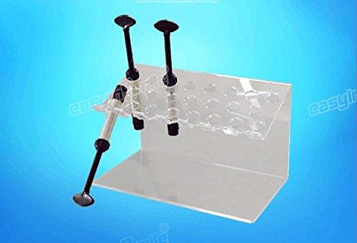 Easyinsmile Arcylic Organizer Case Dental Composite Resin Adhesive Syringe Organizer Holder Stand Multi-Function Rack with 2 Size 2pcs/box (L)