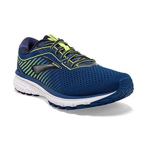 Brooks Mens Ghost 12 Running Shoe - Blue/Navy/Nightlife - D - 9.0
