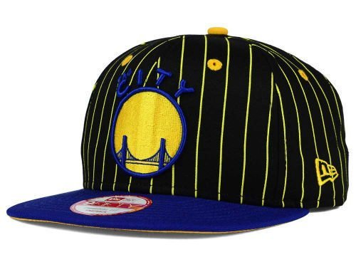 Golden State Warriors New Era NBA Hardwood Classics Vintage Pinstripe 9FIFTY Snapback Cap Hat ()