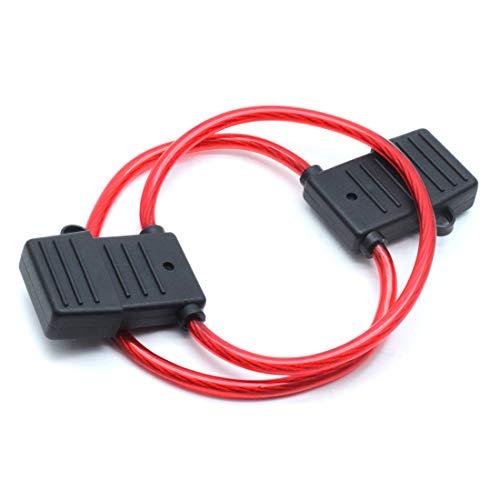 AUTUT Automotive Car Inline Blade Fuse Holder 60amp Pack of 2