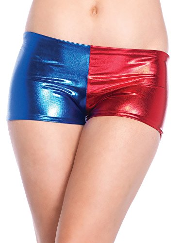 Leg Avenue Women's Misfit Booty Shorts, Blue/Red, Large for $<!--$14.99-->