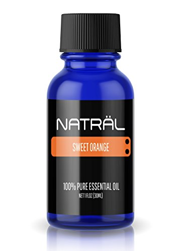 NATRÄL Sweet Orange, 100% Pure and Natural Essential Oil, Large 1 Ounce Bottle