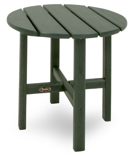Trex Outdoor Furniture Cape Cod Round 18-Inch Side Table, Rainforest Canopy Review