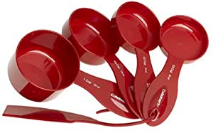 Cuisinart 4 Piece Measuring Cup Set with Leveler,  Red