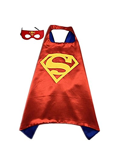 Superman Products : Superman (red) Superhero or Princess CAPE & MASK SET Kids Childrens Halloween Costume