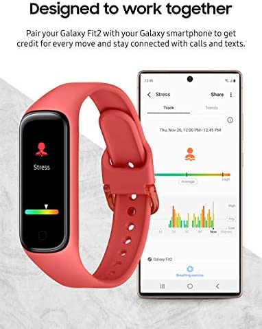 Samsung Galaxy Fit 2 Bluetooth Fitness Tracking Smart Band – Scarlet (US Version) 7
