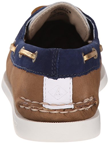 Sperry Top-Sider Womens A/O Two-Eye Boat Shoe White/Navy