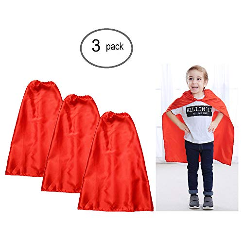 YIISUN Red Cape for Kids Capes for Girls Party Dress up Costumes DIY Dress up Costume for Party Game (3 -