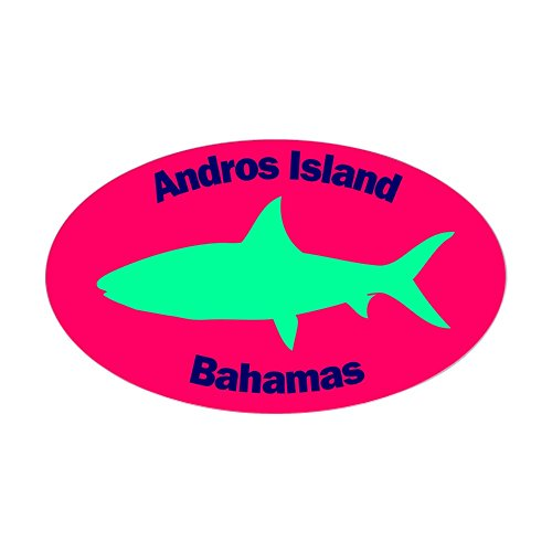 CafePress Andros Island Bonefish Sticker (Pink) Oval Bumper Sticker, Euro Oval Car Decal