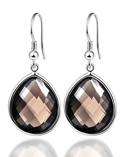 Smoky Quartz Sterling Earrings - 4