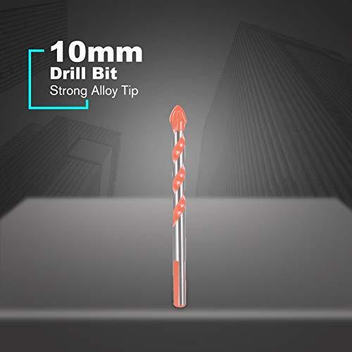 10mm Foret Outil Rotatif Trou Scie Tuile C/éramique Bois /À B/éton B/éton Mur De Per/çage Carbure Astuce Power Accessoires Set Orange
