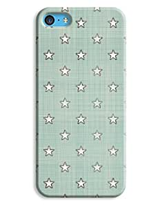 Crazy Blue and Cream Case for your iPhone 5C