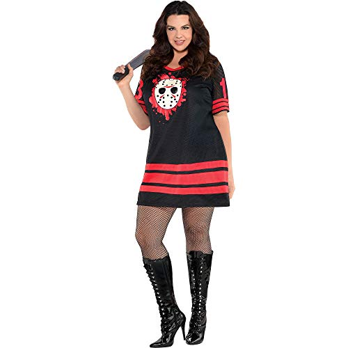 SUIT YOURSELF Miss Voorhees Halloween Costume for Women, Friday The 13th, Plus Size]()