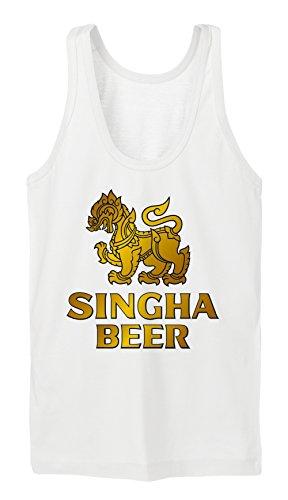 Singha Beer Tanktop Girls Blanc