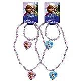 Disney Frozen Necklace and Bracelet set x 2 (1 each Color)