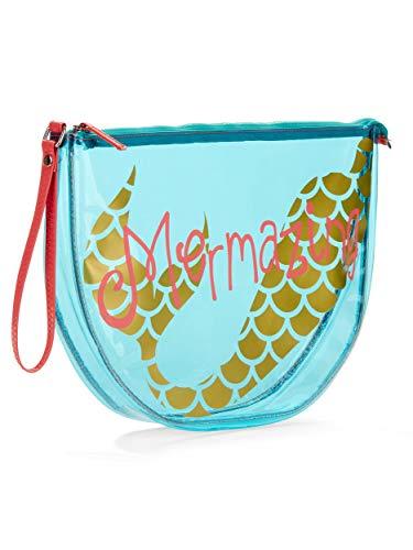 Women and Girls Clear Summer Beach Tote, Wet Swimsuit Bag, Wet Bikini Bag, Pool Bag- Mermazing