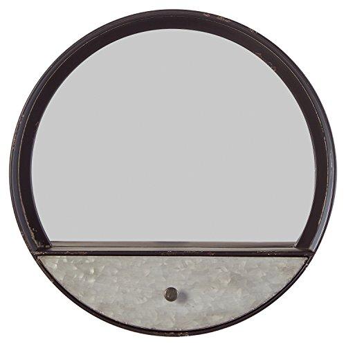 Stone & Beam Contemporary Metal Storage Mirror, 15.3