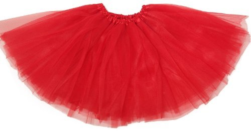 Basic Ballet Tutu - 3 Layers of Tulle - Red -