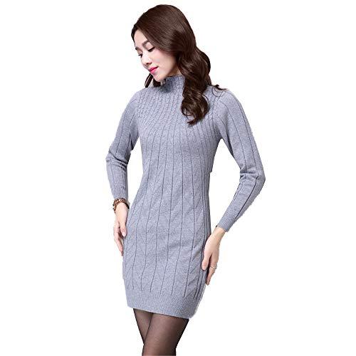 Grigio Maglione Caldo Collo Da Lungo Shirloy Camicia Con Alto Slim Sexy E Donna Nel Tratto 6qd0Sax