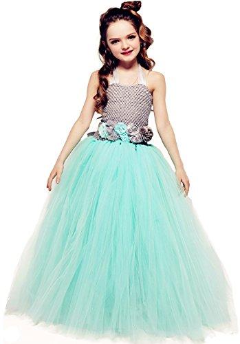 Princess Dresses For Teens (Tutu Dreams Princess Dresses for Teens Girls Gray and Aqua (14,gray-aqua))