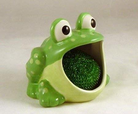 scrubby holder Ceramic Alligator SOS holder,