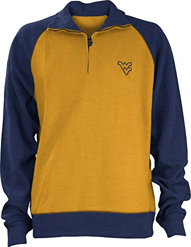 - NCAA West Virginia Mountaineers Men's Dexter Rib Pullover, Yellow Gold/Navy, Large