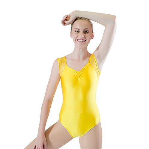 be4542731 Yellow Gymnastics Leotard - Trainers4Me