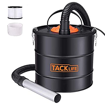 Tacklife Ash Vacuum 5 Gallon 800W Fireplace Vacuum with Blow fonction, 1 2M  Metal Hose, 5M Power Cable, Ideal for Fireplaces, Stoves, Log Burners,
