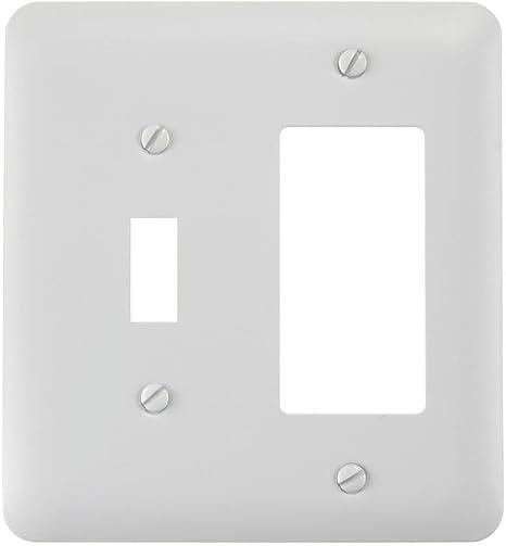 Hampton Bay Devon 1 Toggle 1 Rocker Combination Wall Plate White Amazon Com