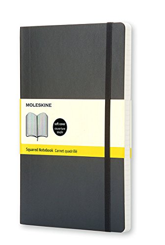 Moleskine Classic Soft Cover Notebook, Squared, Pocket Size (3.5