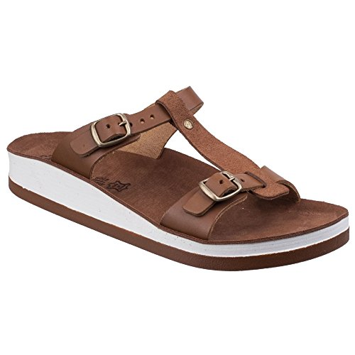 Fantasy Womens/Ladies Leather Jessamine Summer Mule Tobacco BjF80