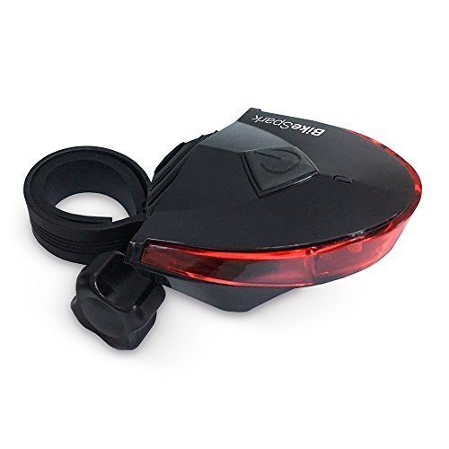 BikeSpark Motion Sensing Bike Tail Light - Deceleration Flash - Bright LED Bicycle Rear Light With 220 Degrees Visibility - Easy Install Bike Light - Water Resistant IPX3