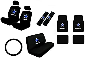 Incredible Amazon Com 15 Piece Nfl Auto Interior Gift Set Dallas Alphanode Cool Chair Designs And Ideas Alphanodeonline