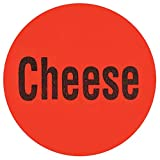 Cheese Label Red Deli Dot Packaging Labels Black Imprint - 1'' Dia 1000 Per Case