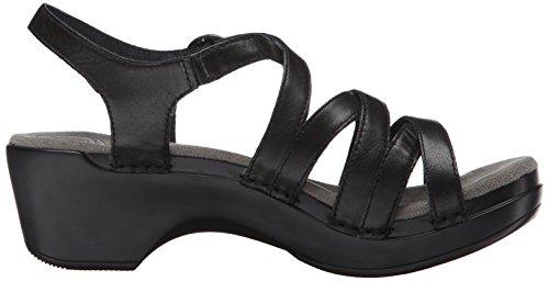 Black Sandal Stevie Dansko Grain Grain Full Black Full Women's Wedge U6xOxEY