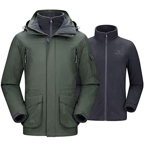 CAMEL CROWN Men's Waterproof 3-in-1 Ski Jacket Windproof Warm Winter Coat Mountain Snow Jacket for Rain Outdoor Hiking (Best Hard Shell Jacket For Skiing)