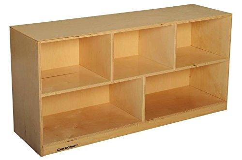 Childcraft 074531 Mobile Toddler Toy and Block Shelf, Birch Veneer Panel, 4-Coat UV Acrylic, 2-Shelves, 24'' x 47-3/4'' x 14-1/4'', Natural Wood Tone