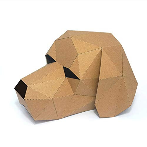 Qupida 3D Papercraft Masquerade Animal Cosplay Paper Mask Cardboard House DIY Crafts for Festival Party]()