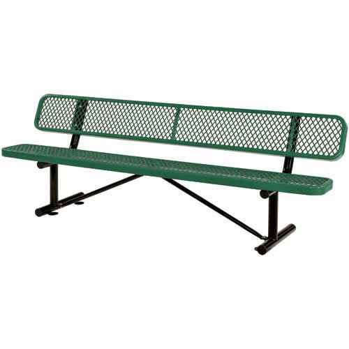 96″ Bench With Back Rest, Green