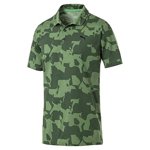 Puma Golf Men's 2019 Union Camo Polo, Juniper, Large