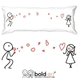 BoldLoft From My Heart to Yours Body Pillow Cover- Girlfriend Gifts, Gifts from Boyfriend, Wife Gifts, 2 Year, Romantic Gifts for Her, Cotton Gifts for Her