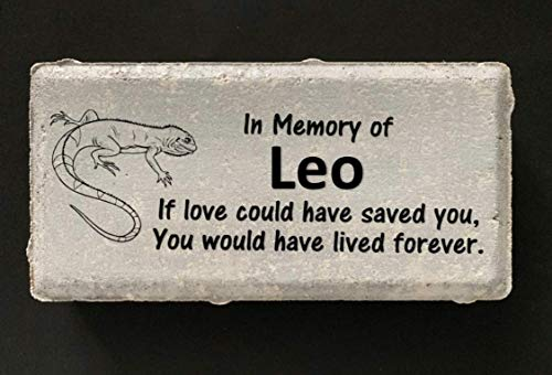 (Lizard - Iguana Memorial Stone - Personalized Pet Memorial)