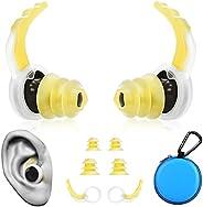 Waterproof Silicone Swim Earplug|Sports Reusable Ear Plugs Swimming for Adults Kids|Waterproof Earplugs with S