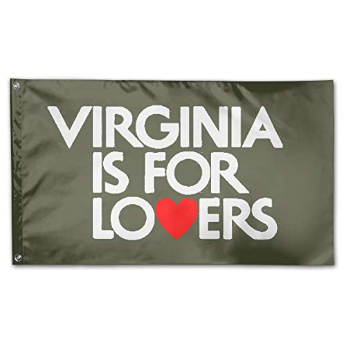 - Virginia is for Lovers Flag Polyester Flag Indoor/Outdoor Banner Flags 3x5 Best Gift