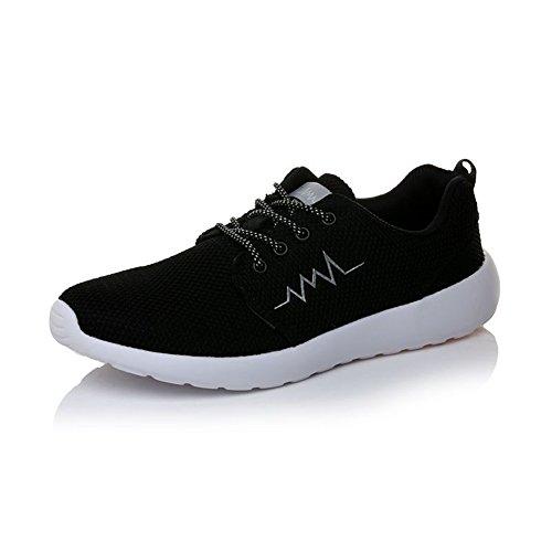 iceunicorn Zapatillas de running de malla para hombre Athletic zapatos de senderismo gimnasio deporte correr zapatos negro