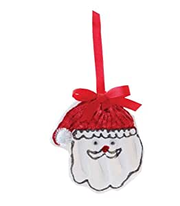 Mud Pie Keepsake Handprint Ornament Kit, Santa