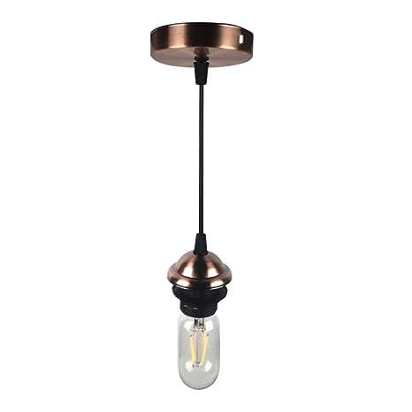 KuLio - Juego de Accesorios de Montaje para lámpara de Techo E26/E27, plástico, Pack of 1 Copper