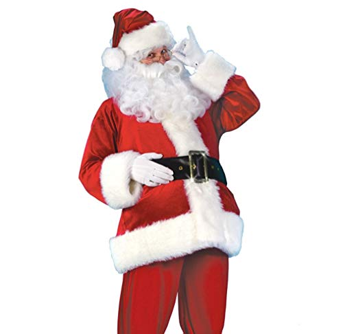 Men's Santa Claus Suit Adult Plush Costume (Large) -