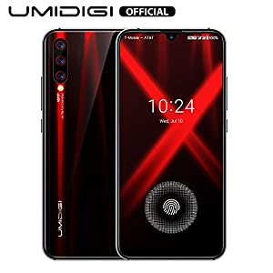 "Unlocked Smartphones 2019, UMIDIGI X in-Screen Fingerprint Dual SIM 4G Budget Phone, 48MP Triple Camera 6.35"" AMOLED Full Screen 4150mAh NFC RAM 4G ROM 128GB Fast Charging"